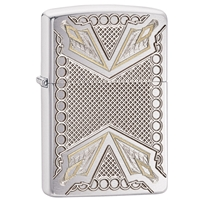 Zippo Lighter Brushed Chrome Armor, Dagger