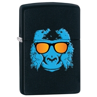 Zippo Lighter, Black Matte Ape With Shades
