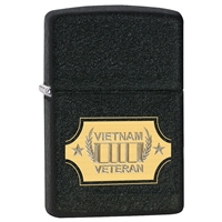 Zippo Lighter, Black Crackle Vietnam War