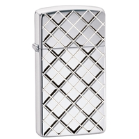 Zippo High Polish Chrome Lighter, Slim Armor