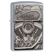 Zippo Street Chrome Lighter Motor Flag