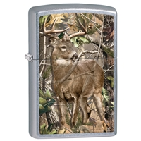 Zippo Street Chrome Lighter Realtree APG