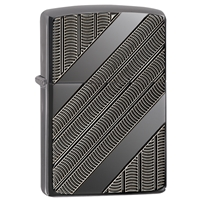 Zippo High Polish Black Ice Lighter, Armor