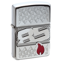 Zippo High Polish Chrome Lighter, Armor