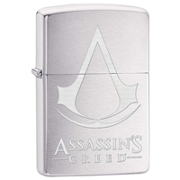 Zippo Lighter Brushed Chrome Assassin's Creed, Crest & Name