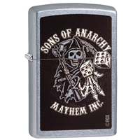 Zippo Lighter Street Chrome Sons Of Anarchy, Reaper & Dice