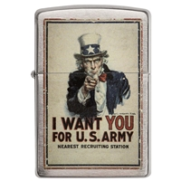 Zippo Lighter Brushed Chrome U.S. Army, Poster- I Want You……