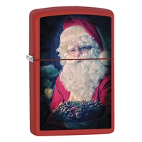 Zippo Red Matte Lighter Santa Claus