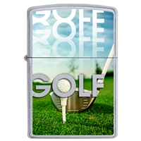 Zippo Satin Chrome Lighter Golf