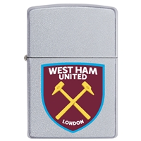 Zippo Satin Chrome Lighter West Ham United FC
