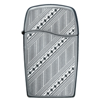Zippo Blu Lighter Dusted Chrome - Pathways