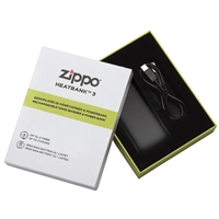 Zippo Heatbank 3 Hour, Rechargable Handwarmer & Power Bank, Black (Gift Box)