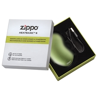Zippo Heatbank 6 Hour, Rechargable Handwarmer & Power Bank, Green (Gift Box)