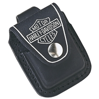 Zippo Harley-Davidson Black Leather Lighter Pouch HDPBK