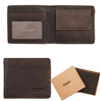 Zippo Leather, Bi-Fold Wallet With Coin Pocket Mocca 2005118