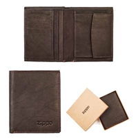 Zippo Leather, Vertical Wallet Mocca, 2005121