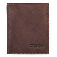 Zippo Leather, Vertical Wallet Brown, 2005122