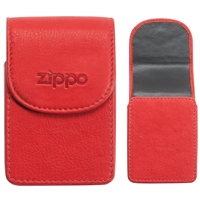 Zippo Leather Cigarette Case, Red (Holds A Standard Pack Of 20 Cigarettes)