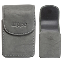 Zippo Leather Cigarette Case, Grey (Holds A Standard Pack Of 20 Cigarettes)