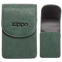 Zippo Leather Cigarette Case, Green (Holds A Standard Pack Of 20 Cigarettes)