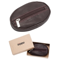 Zippo Leather Coin Purse, Brown (10.5 X 6.5 X 2cm)