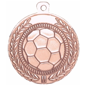 45mm Football Medal - Bronze