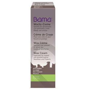 Bama Wax Cream Tube for waxed and oiled leathers Black 09 50ml