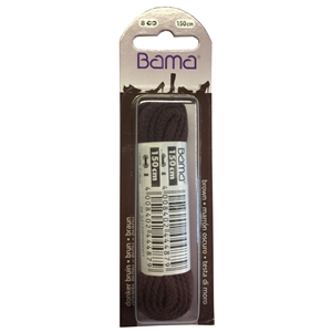 Bama Blister Packed Cotton Laces 150cm Cord 033 Brown