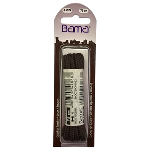Bama Blister Packed Polyester Laces 75cm Hiking Cord 033 BrownÂ