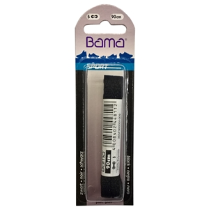 Bama Blister Packed Polyester Laces 90cm Sports Heavy Flat 009 Black