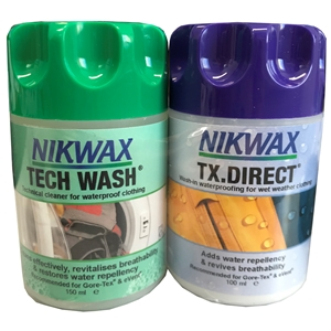 Nikwax Twin Pack Tech Wash/TX. Direct 150ml