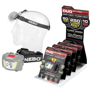 Nebo Duo Headlamp (12) with Counter Stand