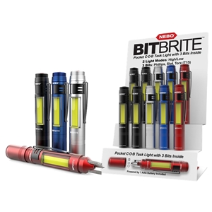 Nebo BitBrite Pocket Light with Bits (24) with Magnetic Counter Stand