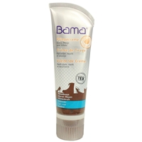 Bama Shoe Cream Tube with Applicator Sponge Mid Brown 32 75ml