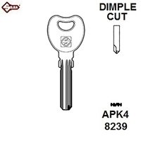 Silca APK4, Dimple Security Cylinder Blank,