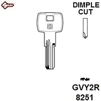 Silca GVY2R, Gevy Dimple Security Cylinder Blank,