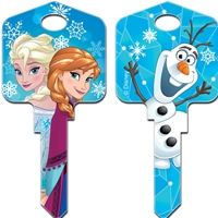 Licensed Keys Frozen Disney Silca Ref UL054