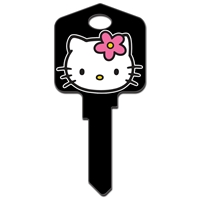 Licensed Keys Hello Kitty Black Silca Ref UL054