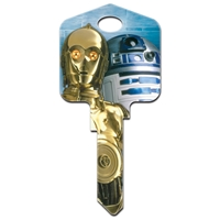Licensed Keys C3PO & R2D2 Star Wars Silca Ref UL054