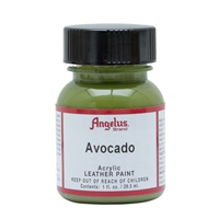 Angelus Acrylic Leather Paint 1 fl oz/30ml Bottle. Avocado 170