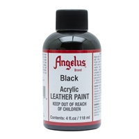 Angelus Acrylic Leather Paint 4 fl oz/118ml Bottle. Black 001