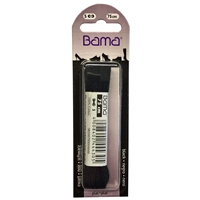 Bama Blister Packed Cotton Laces 75cm Flat 009 Black