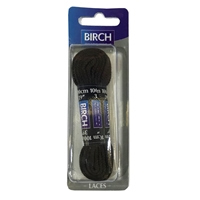 Birch Blister Pack Laces 100cm Flat Brown
