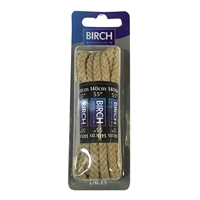 Birch Blister Pack Laces 140cm Chunky Cord Beige