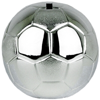 Football Money Box Silver Plated. 8.5cm High