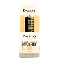 Dasco Twin Pack Shoe Brush Medium Size