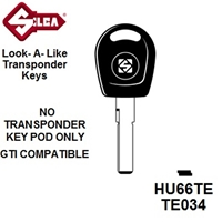Silca HU66TE - Volkswagon Transponder (Without Chip)