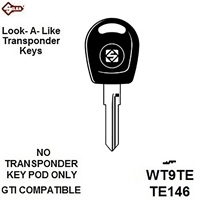 Silca WT9TE, Volkswagen Transponder Blank (Without Chip)