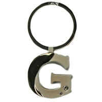 Alphabet Key Ring With Crystal Letter G