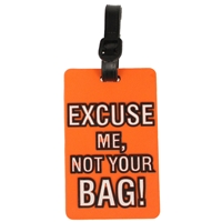 Birch Luggage Tag Orange EXCUSE ME, NOT YOUR BAG!